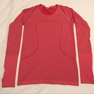 Lululemon Swiftly Long Sleeve Pink Size 6